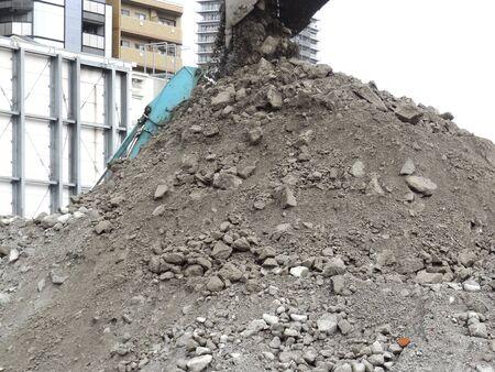precursor: Sediment dug the ground in the precursor demolition work