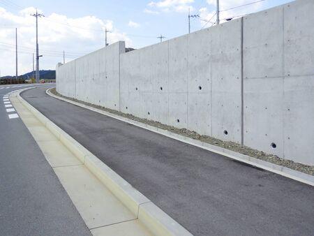 細分化住宅地の側壁の建設 写真素材
