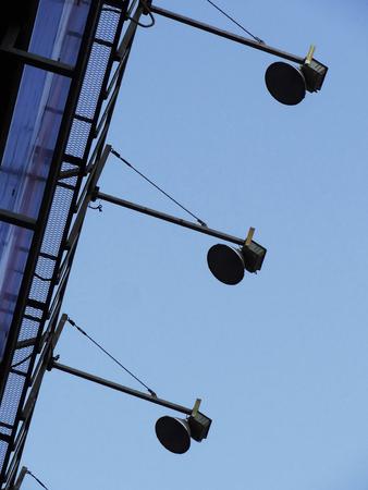 outdoor lighting: Lighting equipment of building outdoor advertising signboards