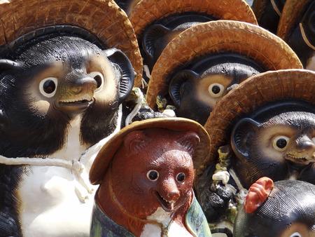 ware: Shigaraki ware of raccoon dog figurine