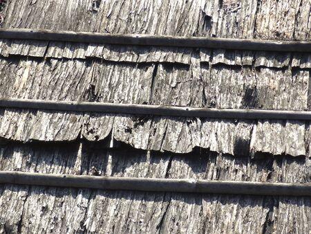 Roof of cedar skinning