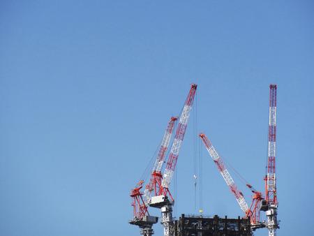 building site: Building building site crane