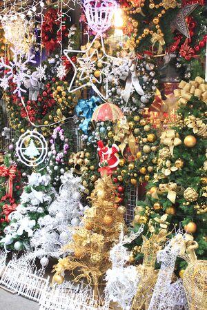 christmas tree decoration: Decoration of the Christmas tree Stock Photo