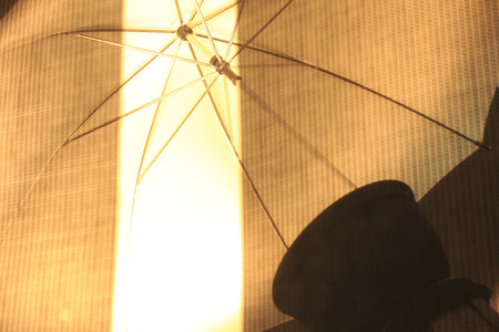 strobe: Parasol shooting strobe Stock Photo