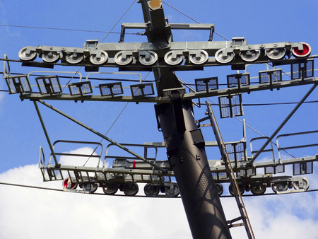 pulley: Ropeway of the pulley and the strut
