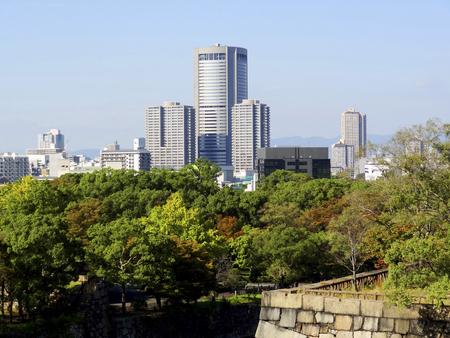 oap: Ishigaki and Osaka Amusement Park Osaka Castle Stock Photo