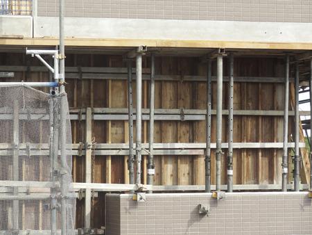 modesty: Apartment building construction site