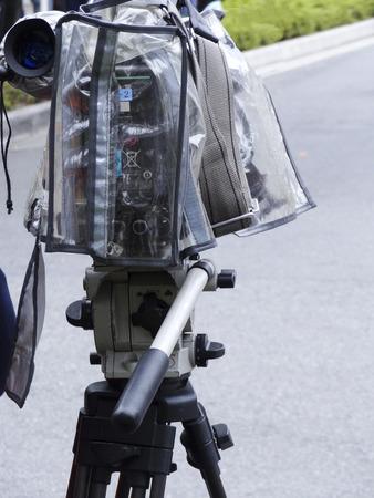 Of news coverage TV camera 版權商用圖片