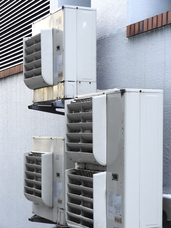 a unit: Outdoor unit of air conditioner