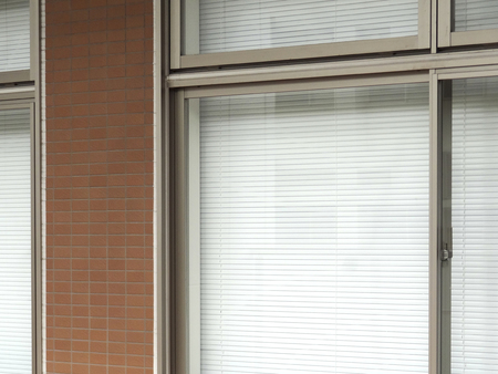 awnings: Of office window blind Stock Photo