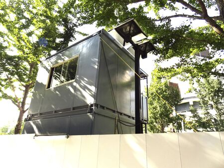 prefab: Prefabricated temporary office of the road construction site