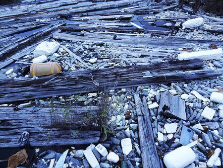 estuary: Estuary accumulated the dust Stock Photo
