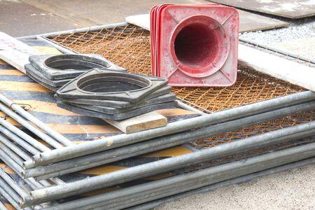 工事現場のフェンス 写真素材