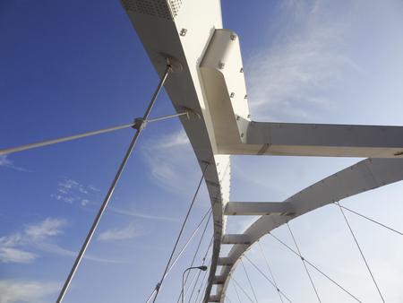 nagara: Arched steel frame of the Nagara Bridge Stock Photo