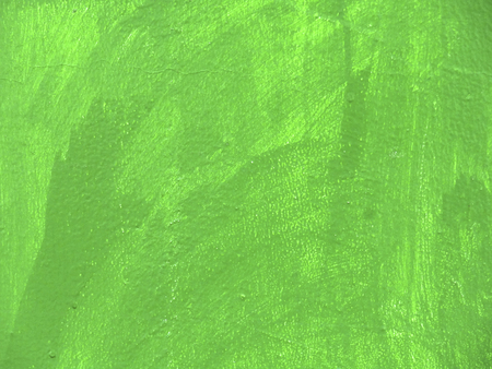 unevenness: Brush unevenness painted green paint