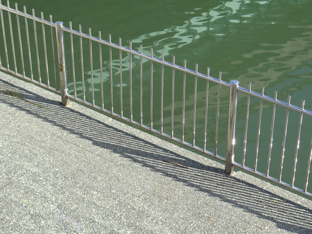 revetment: Fall prevention fence of revetment of rivers