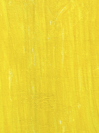Brush unevenness painted yellow paint