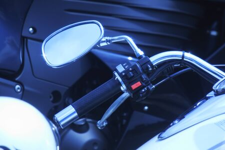 to mirror: Motorcycle rearview mirror Stock Photo