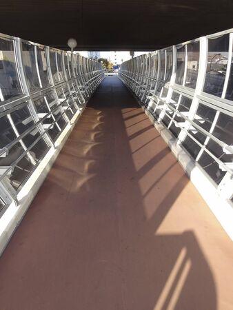 footbridges: Footbridge was installed soundproof wall