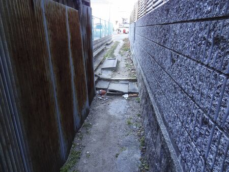 back alley: Sewage groove of back alley