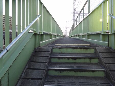 Footbridge: Footbridge staircase