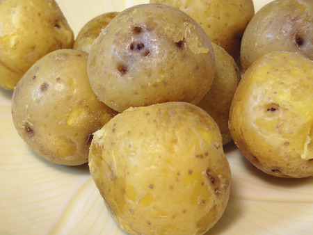 steamed: Steamed potatoes