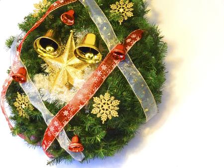 lease: Christmas decoration lease Stock Photo