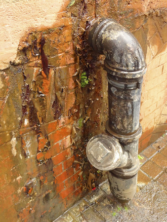 leakage: Drainage pipes of water leakage