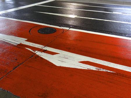 roadway: Roadway of color pavement