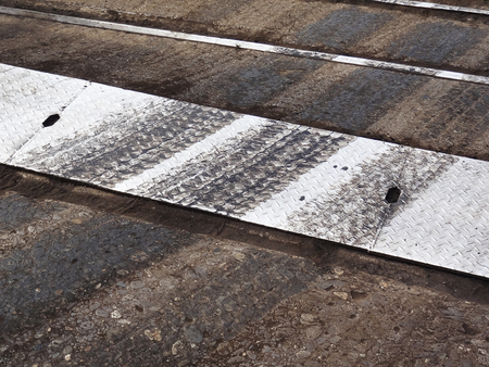 tire marks: Tire marks of the track Stock Photo