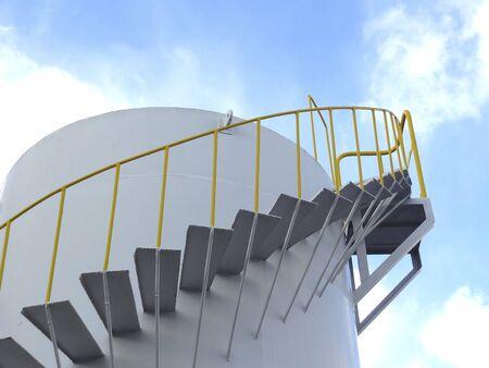 タンクの螺旋階段 写真素材