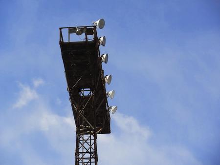lighting: Lighting tower Stock Photo