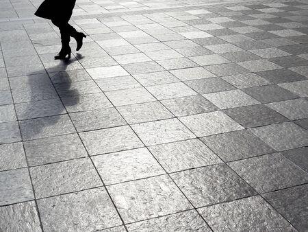 plaza: Tiled plaza Stock Photo