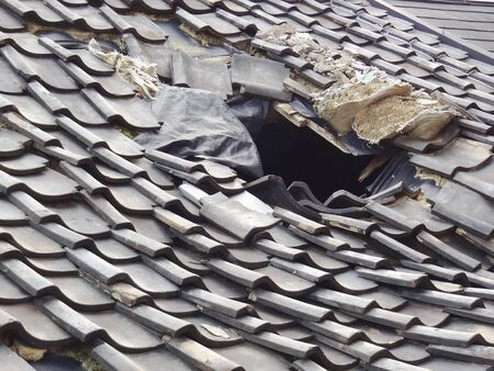 housing style: Broken roof tiles