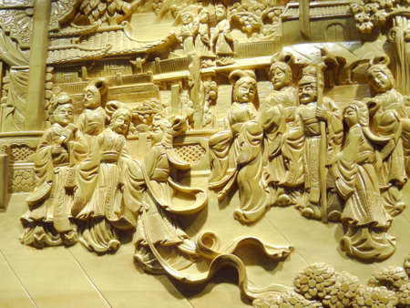 고전적인 중국의 조각 스톡 콘텐츠