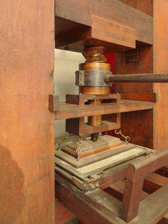 restore: Gutenberg restore printing machine Stock Photo