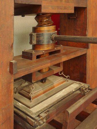 gutenberg: Gutenberg restore printing machine Stock Photo