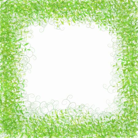 enclose: Frame of grass pattern Stock Photo
