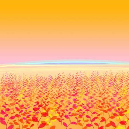The plant image in orange land