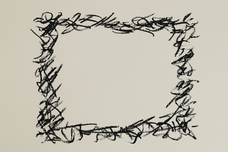クレヨンを描画のフレーム 写真素材