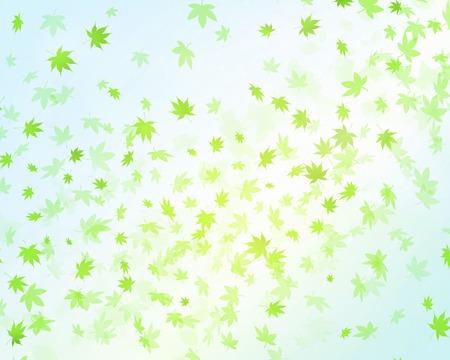Fluttering leaves Stock Photo