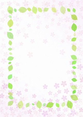 enclose: Cherry blossoms and fresh green frame