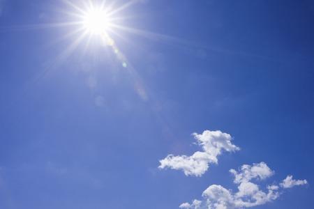 Blue sky and Sun Stockfoto