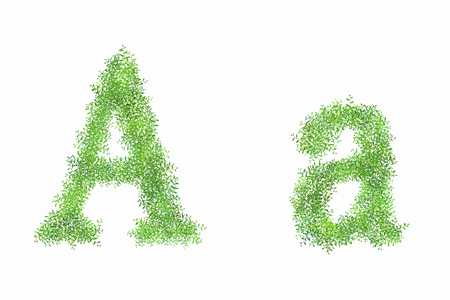 early summer: English letter A of arabesque