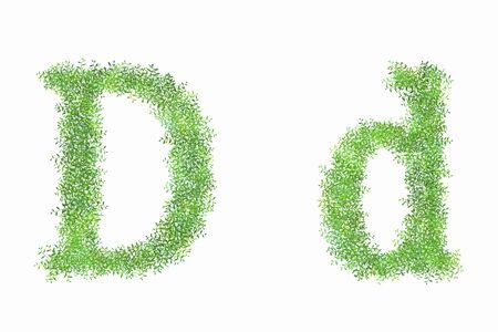 d: English letter D of arabesque Stock Photo