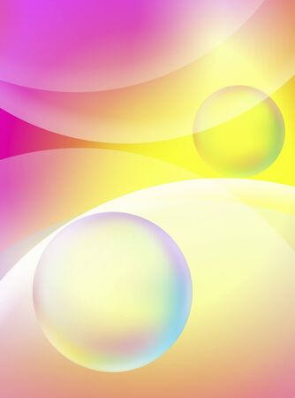 Color composition of spheres and curves