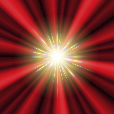 convergence: Emission of light.