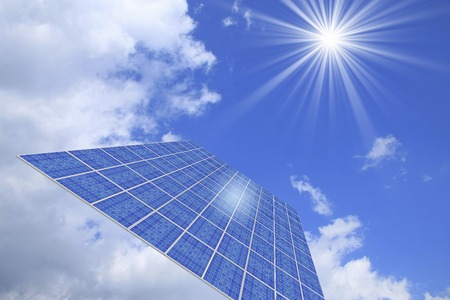 photovoltaics: Solar Panel Stock Photo