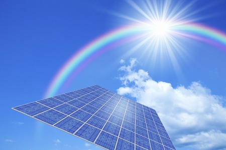 photovoltaics: Solar Panel Stock Photo