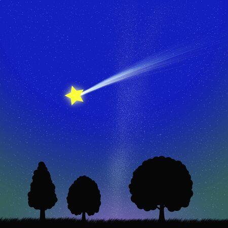 Shooting star 写真素材